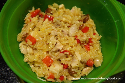 Baby Rice Recipe: Chicken and Rice Pilaf