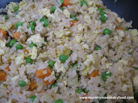 Baby Rice Recipe: Vegetable Fried Rice