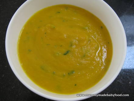 Baby Soup Recipes: Carrot and Coriander Soup