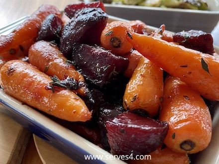 Best Family Vegetarian Recipes: Honey Roasted Carrots and Beetroot