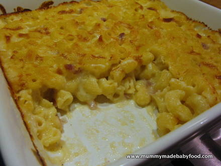Quick Pasta Recipe for Baby: Baked Macaroni and Cheese