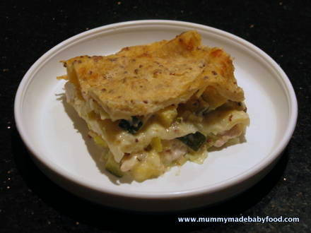 Quick Pasta Recipe for Baby: Chicken and Leek Lasagne