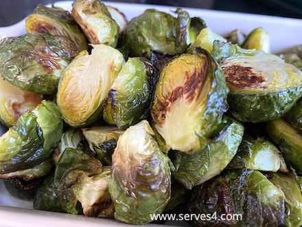 Best Family Vegetarian Recipes: Roasted Brussels Sprouts