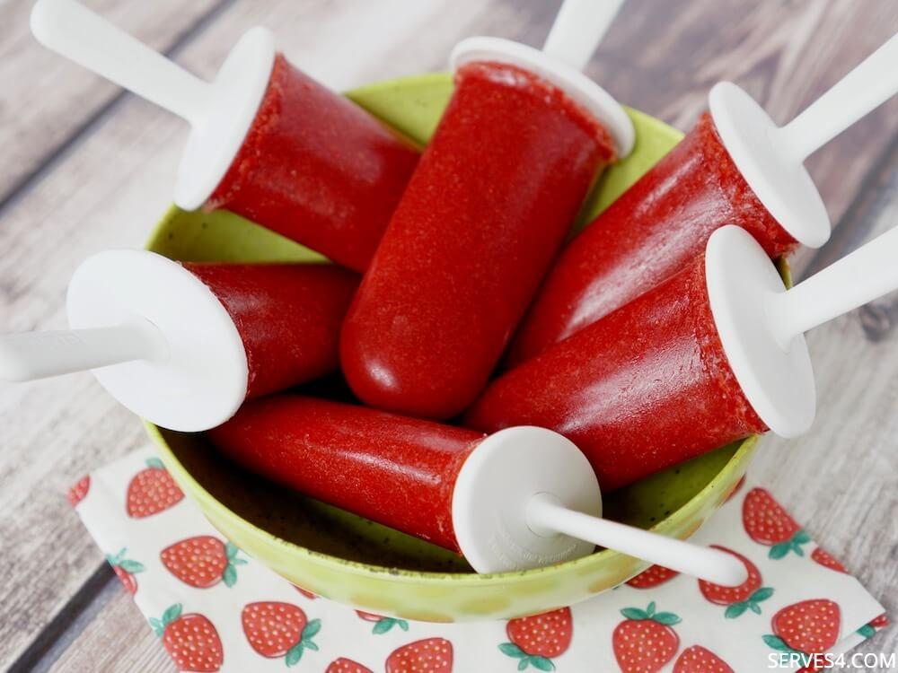 Strawberry Ice Pops