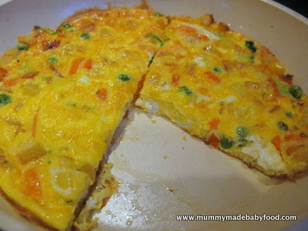 Vegetarian Baby Recipes: Easy Mixed Vegetable Frittata