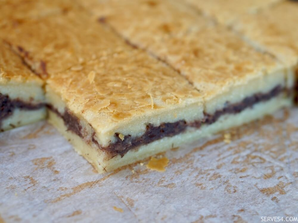Baked Sticky Rice Cake with Red Bean Paste (红豆 烤年糕)