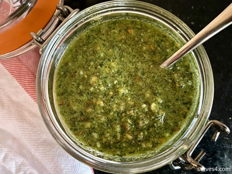 Almond Pesto Sauce Recipe