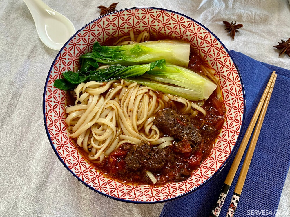 Red Braised Chinese Beef Noodle Soup (红烧牛肉面)