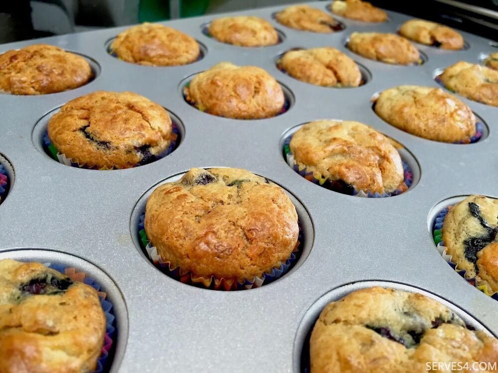 Home Made Cake: Sugar-Free Banana and Blueberry Mini Muffins