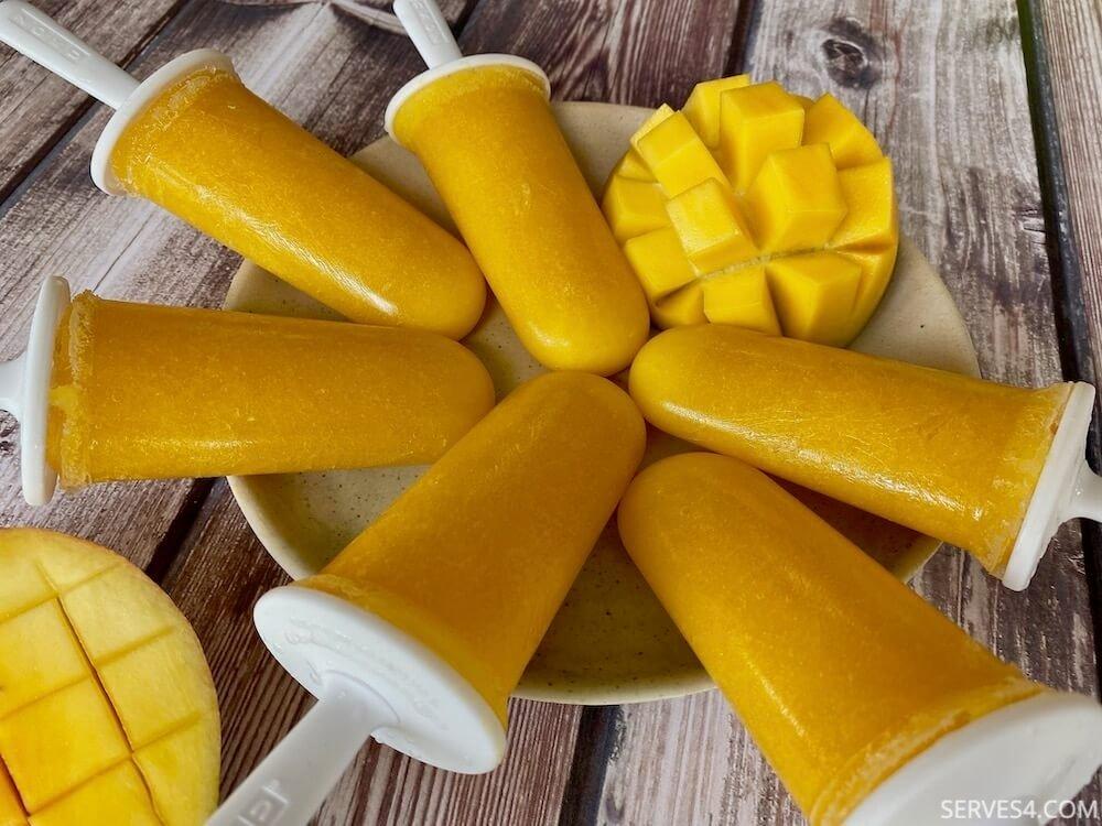 Refreshing Mango Ice Lollies